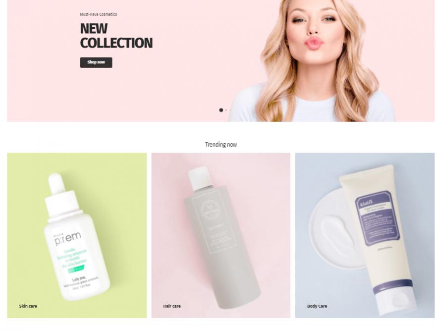 化妆品网购网站制作 - 网上购物型网站设计 - Shopify网购网页设计