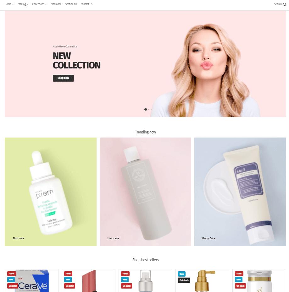 化妆品网购网站制作 - 商城