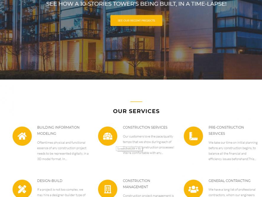 建筑行业网站制作 - 温哥华网页设计服务 | 网站制作服务