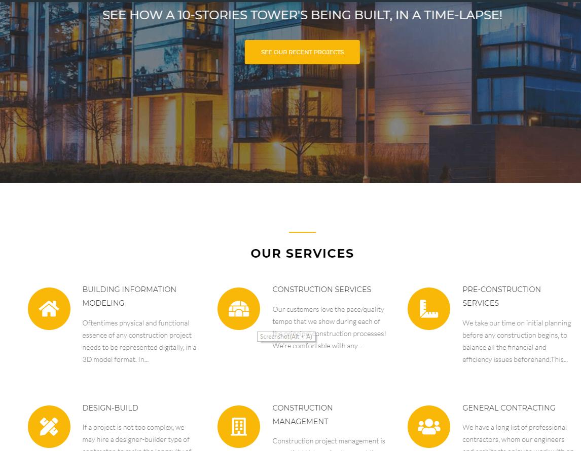 建筑行业网站制作