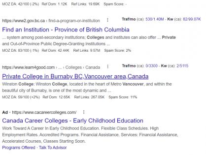 Google数据分析各行各业 - 北美SEO公司