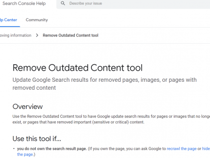 SEO Tips - 如何使用Google工具删除过时文章